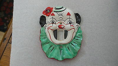 1956 Yona Original CLOWN SWITCH PLATE COVER Japan,Ceramic