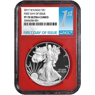 2017-W Proof $1 American Silver Eagle NGC PF70UC FDI First Label Red Core