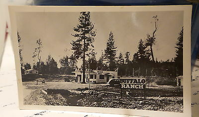 Vintage Unsent RPPC BUFFALO RANCH TEXACO GAS STATION, CAFE, BEER Postcard