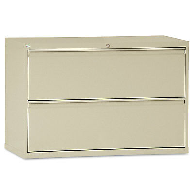 Alera Two-Drawer Lateral File Cabinet, 42w x 19-1/4d x 28-3/8h, Putty LF4229PY