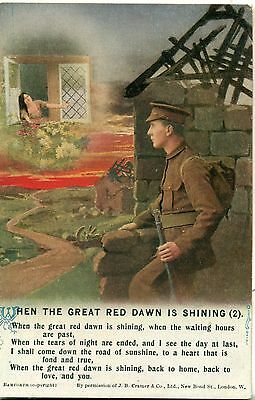 POSTCARD SONG CARDS When the great red dawn is shining (2)