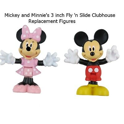 New Fisher-Price Disney Mickey & Minnie's Fly'n Slide Clubhouse 3 inch Figures