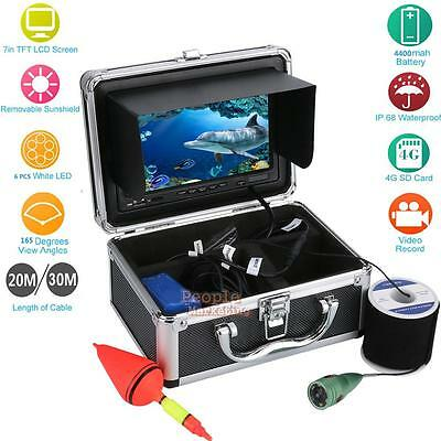"7"" LCD TFT Fish Finder Recorder Fishing Monitor Underwater Video Camera 20/30m"