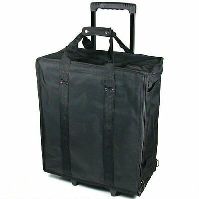 Large Jewelry Display Box Black Carrying Case w/ Wheels