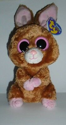 Ty Beanie Boo - Hopson The Bunny - Original Sereis With Purple Tag -New