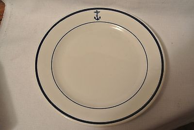 Vintage WWII USNavy  Shenango China Dessert Plate with Foiled Anchor