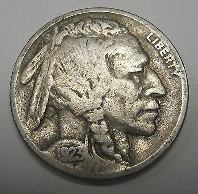 1923 Buffalo Nickel Grading in the VG Range Original Coins DUTCH AUCTION