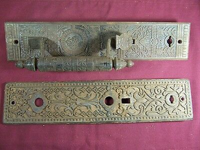 Antique Reading Hardware Mortise Entry Door Lock Escutcheon Eastlake Old