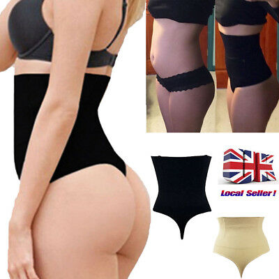 Lady High Waist Trainer Tummy Control Thong Seamless Underwear Shaper Shapewear