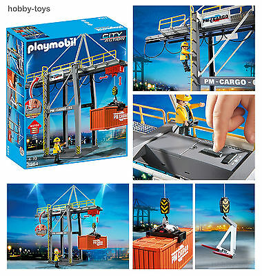 PLAYMOBIL * Cargo Loading Terminal Crane 5254 For Airport / Docks / Train * BNIB