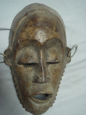 Old African Carved Wood Paude Mask Nice Patina