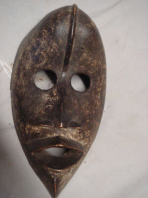 Antique African Carved Wood Mask Tribal with nice Patina