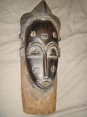 Very Old African Carved Red Wood Tribal Mask