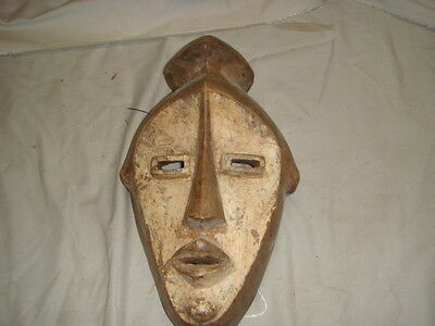 Antique African Carved Wood Lwalwa Mask