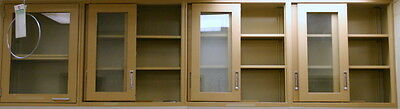 Hamilton Wall Cabinets, Casework With Metal Framed Glass Doors, 24 Feet