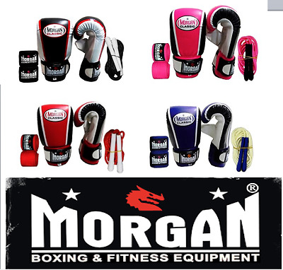 Boxing gloves SKIPPING ROPE HAND WRAPS SET PACK BUNDLE NEW PAIR SALE CHEAP S M L