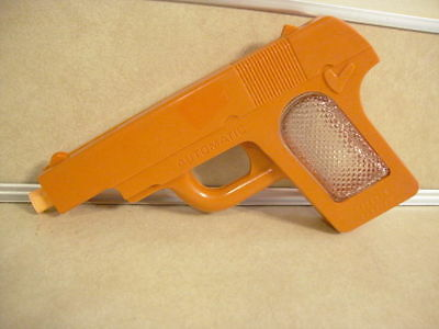 Vintage HTF Plastic Glass Candy Container NON Shooting Pistol Gun Toy Jeanette!