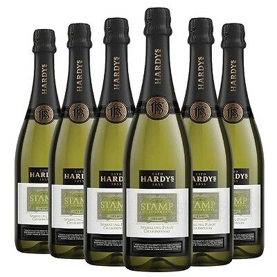 Hardy's 'Stamp' Sparkling Chardonnay Pinot Noir NV (6 x 750mL) SEA