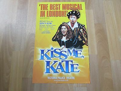 KISS me KATE the Best Musical in London Original VICTORIA Palace Theatre Poster