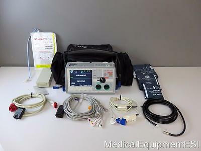 ZOLL E Series Biphasic 12 Lead ECG SpO2 NIBP etCO2 Pacing AED