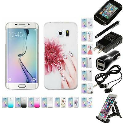 For Samsung Galaxy S6 Edge Crystal Hard Snap-On Transparent Case Accessories