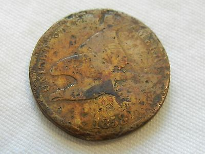 1858 flying eagle penny one cent copper coin
