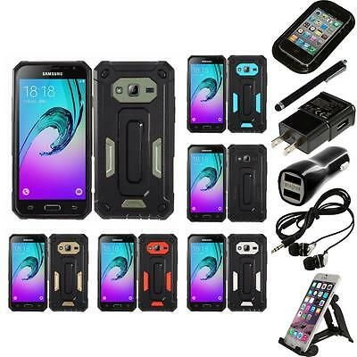 For Samsung Galaxy J7 Rugged Heavy Duty Hybrid Hard Case Phone Cover Accessories