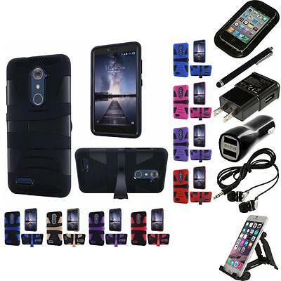 For ZTE Grand X Max 2 Kirk Zmax Pro Rugged Defender Armor Case Cover Accessories