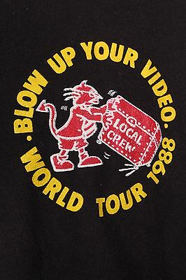 """Vtg 1988 Acdc """"Blow Up Your Video"""" Local Crew Tour T Shirt Mens Xl"""