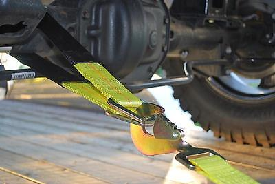 Heavy Duty Axle Recovery Strap Car Transporter Strap 3 ft D-Rings