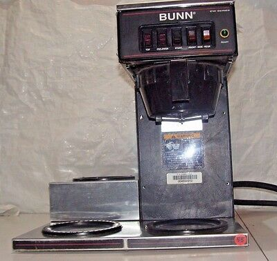Bunn CW Coffee Brewer Stainless Commercial Pourover Machine Pour-Omatic 4 Warmer