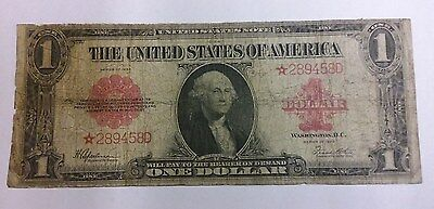 Series 1923 $1 USN Star Note Replacement One Dollar