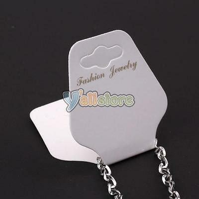 1000pcs 3.74 x 1.81 inch Necklace Jewellery Display Cards Jewelry Paper White