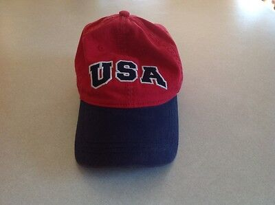 Children's Place Boys USA Red & Blue Baseball Hat Size 8-14