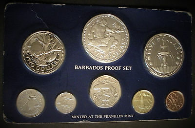 1976 Barbados 8-Coin Set with 1.927 oz Silver Franklin Mint - no case or COA