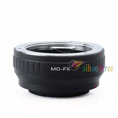 Minolta MD MC Mount Lens to Fujifilm FX X Mount X-Pro1 Camera Body Adapter Ring