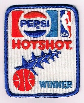 Scarce 1940s Pepsi Cola NBA Basketball HOT SHOT 2¾ x 3¼ inch patch Tavern Trove