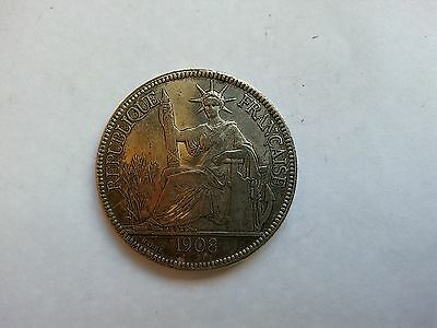 China 1908 silver coin Plastre de Commerce of Indochine Francaise