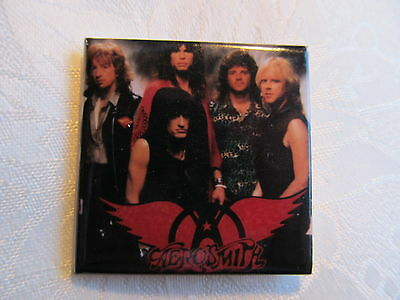 Vintage 80's AEROSMITH Rock Music Heavy Metal Hat Jacket Lapel Pin A