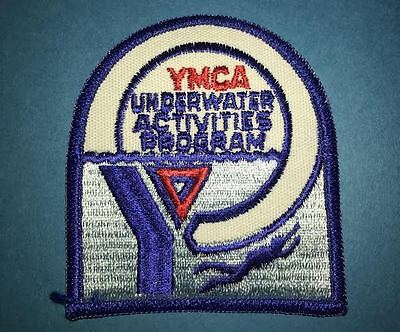 Rare 1980's YMCA Underwater Activities Program Iron On Patch Crest