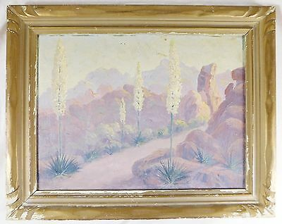Vintage California Desert Oil Painting Charles Westly Nicholson - Listed Artist