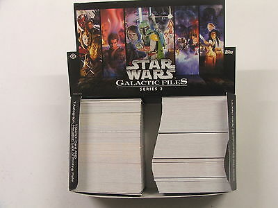 Star Wars Galactic Files Series 2 set of 350 cards, 3 variants & sell sheet 2013