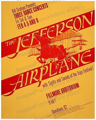 16x20 Poster Jefferson Airplane Fillmore Auditorium 1966 #JA1
