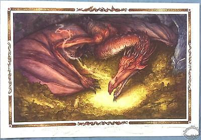 The Hobbit - David T. Wenzel - Signed - Remarqued A/P Giclee Smaug and Bilbo Art