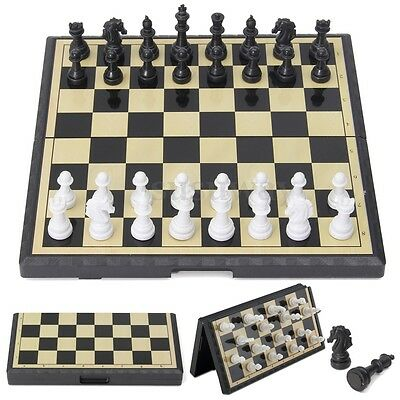 Magnetic Folding Chessboard Chess Board Box Set Portable Kids Game Toy Puzzle