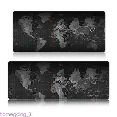 Large XL Size Anti-Slip World Map Speed Game Mouse Pad Gaming Mat for Laptop RM