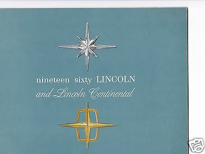 1960 Lincoln Continental Dealership Sales Brochure