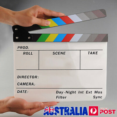 Clapperboard Clapper Board TV Movie Slate Colorful Clapboard Clapper Board Film