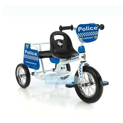 NEW  Eurotrike Kids Tricycle Tandem Trike Police Ride On Bike With Two Seats