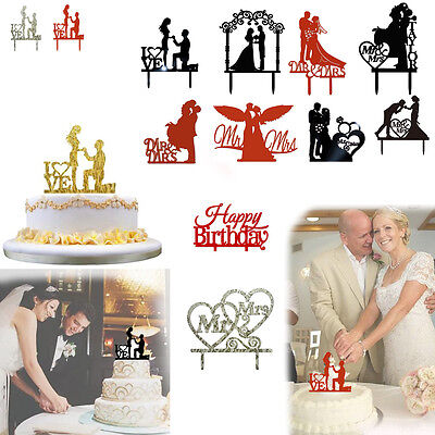 New Cake Topper Insert Card Love Simple Romantic Wedding Acrylic Cake Decoration